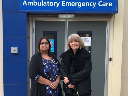 Harriett Baldwin visits the Ambulatory Emergency Care unit