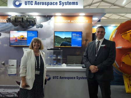 Harriett Baldwin MP meets Richard Wileman at Aero India 2017 in Bangalore.