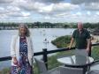 Harriett Baldwin with Alan Newell of Croft Farm Water Park