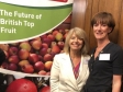 Harriett Baldwin joins local farmer Ali Capper in Westminster to promote British apples and pears