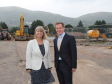 Harriett Baldwin MP sees the expansion work at Malvern Hills Science Park with chief executive Alan White