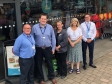 Outside the Cooperative store in Barnards Green (l-r) Ian Hindle, Matt Pratley. Kerry Preedy, Harriett Baldwin MP and Jon Bottom
