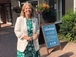 Harriett Baldwin MP at the Dewdrop pub in Lower Broadheath