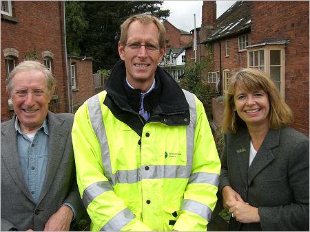 Bob Martin and Harriett Baldwin meet the Environment Agency's Regional Manager in Tenbury.