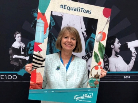 Harriett Baldwin invites local people to join her at a celebration tea to mark 100 years of women's suffrage