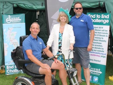 Harriett with the Event Mobility team at the Royal Three Counties Show