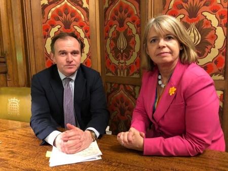 Environment Secretary George Eustice with Harriett Baldwin MP.