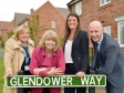 Harriett Baldwin MP visiting a development of Stonewater village homes for affordable rent and shared ownership