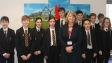 Harriett Baldwin MP with students from Hanley Castle High School as part of the BBC News Report initiative