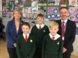 Harriett Baldwin MP, Florence Thomas, Henry Thorley, Finlay Skene and Adrian Pratley.
