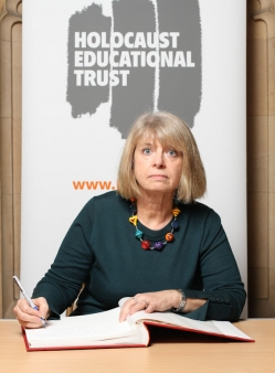 Harriett Baldwin MP signs the Holocaust Educational Trust Book of Commitment to mark Holocaust Memorial Day on 27 January