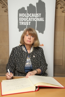 Holocaust Memorial Day: Harriett Baldwin signs the book of remembrance at the Houses of Parliament