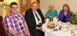 Howbury House visit: Ian Clifton, Cllr Adrian Hardman, resident Hilda Jansen and Harriett Baldwin MP