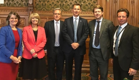 Harriett Baldwin and Worcestershire MPs meet with Health Secretary Jeremy Hunt to discuss county NHS support