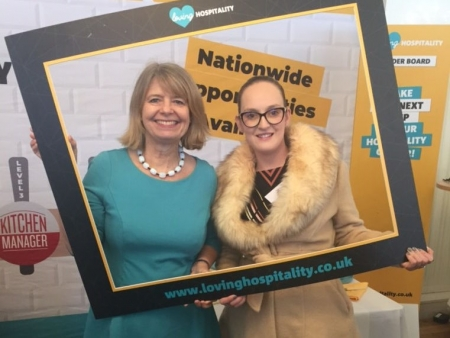 Harriett Baldwin MP with Jessica Smith