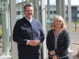 Harriett Baldwin MP with West Mercia Police and Crime Commissioner John Campion.