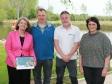 At Pershore Riverside Centre: Harriett Baldwin MP, Clive Pearson, Alex Mellor and Sue Tadman