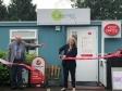 Harriett Baldwin MP cuts the ribbon at the Lower Broadheath Community Shop with chairman Mark Glossop.