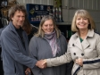 Harriett Baldwin MP with Andy and Rachael Mahy of Wykeham Gardens Plant Centre