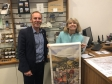 Malvern Hills District Council's Simon Smith with Harriett Baldwin MP at Malvern's new Tourist Information Centre.