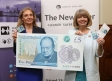 Malvern's Bank of England Chief Cashier Victoria Cleland and Harriett Baldwin MP with the new fiver