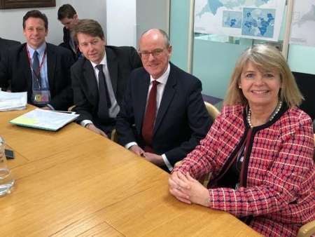 Meeting with Schools Minister Nick Gibb: Nigel Huddleston MP, Robin Walker MP, Nick Gibb MP and Harriett Baldwin MP