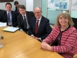 Meeting with Schools Minister Nick Gibb: Nigel Huddleston MP, Robin Walker MP, Nick Gibb MP and Harriett Baldwin MP