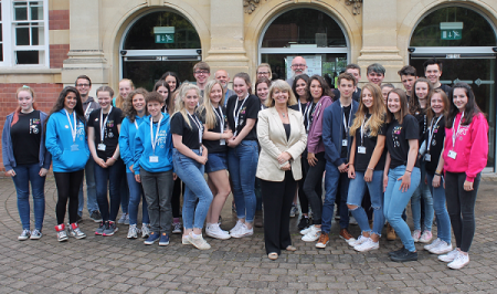 Harriett Baldwin MP meets Malvern NCS volunteers at Malvern's Library