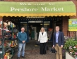 At Pershore Retail Market: Chris Howard of The Tool Den, Harriett Baldwin MP and Wychavon District Council leader Bradley Thomas
