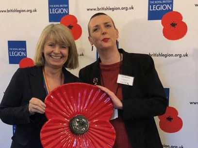 Harriett Baldwin MP with the Royal British Legion's Gail Walters.