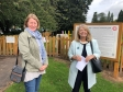Malvern Hills District Council leader Sarah Rouse and Harriett Baldwin MP