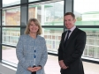 Harriett Baldwin MP is given a tour of the brand new building with Malvern Hills Science Park chief executive Alan White.