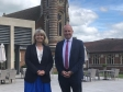 Harriett Baldwin tours Stanbrook Abbey Hotel with Gordon Burniston.