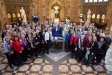 Suffragette Centenary: Members of the Houses of the Commons and Lords gather with Prime Minister Theresa May