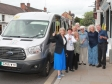 Harriett Baldwin and Ria Baxter join residents in Tenbury using the free bus service