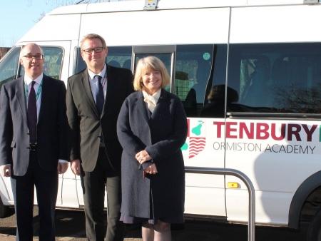 Harriett Baldwin MP tours Tenbury High Ormiston with Ormiston Academy Trust's Jason Howard and school principal Adrian Price