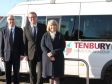 Harriett Baldwin MP tours Tenbury High Ormiston with Ormiston Academy Trust's Jason Howard and school principal Adrian Price