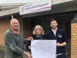 Harriett Baldwin MP is shown the Tenbury Community Pool's improvement plans with (left) Adrian Taylor and (right) Tom Mansfield