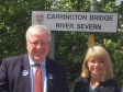 Harriett Baldwin MP with Transport Secretary Patrick McLoughlin at Carrington Road bridge