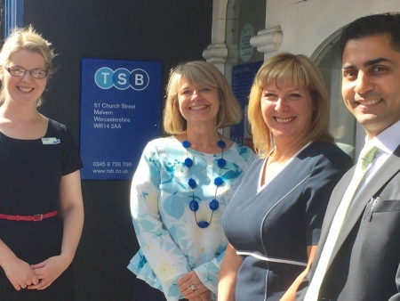 Harriett Baldwin visits Malvern's TSB branch