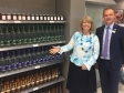 Harriett Baldwin MP sees the local produce shelf at Malvern's Waitrose store with store manager James Aldridge