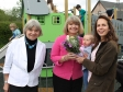 Welland parish council chair Viv Nelson, Harriett Baldwin MP and parish councillor Emma Horton-Smith with 7 month old daughter