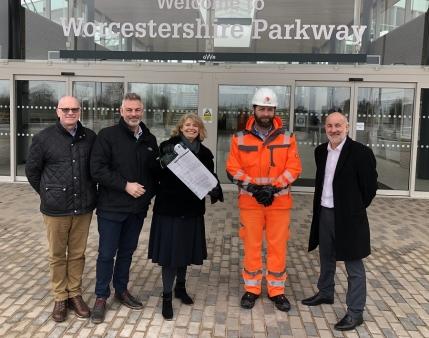 Harriett Baldwin MP welcomes new parkway station