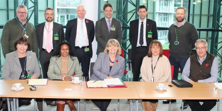 Worcestershire small businesses meet with Harriett Baldwin MP to discuss procurement.