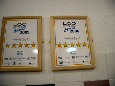 Loo of the Year 5-star award for the Pershore public toilets